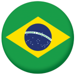 Brazil Country Flag 58mm Button Badge